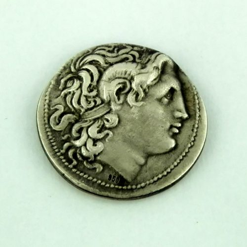Alexander the Great coin – pendant, Sterling Silver Ancient Coin, ancient necklace, pendant and coin jewelry, Greekgold.com, Greek jewelry, Greek jewelry shop ANSCO 103