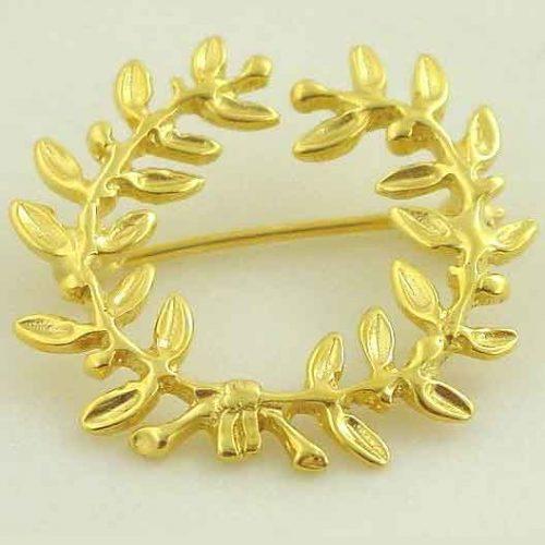 Ancient gold kotinos brooches, Greek gold brooches, Greek jewelry, Jewelry from Greece, Greek jewelry shop, 14K gold
