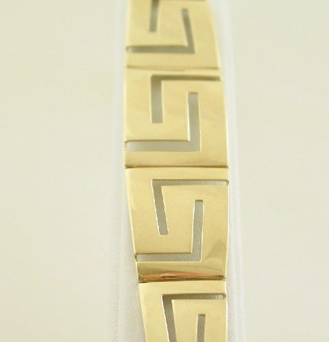 Greek Key bracelet-Meander bracelet-Greek Jewelry-Greek key gold bracelets