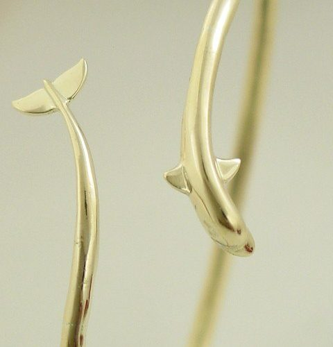 14k Gold Dolphin Bracelet Bangle