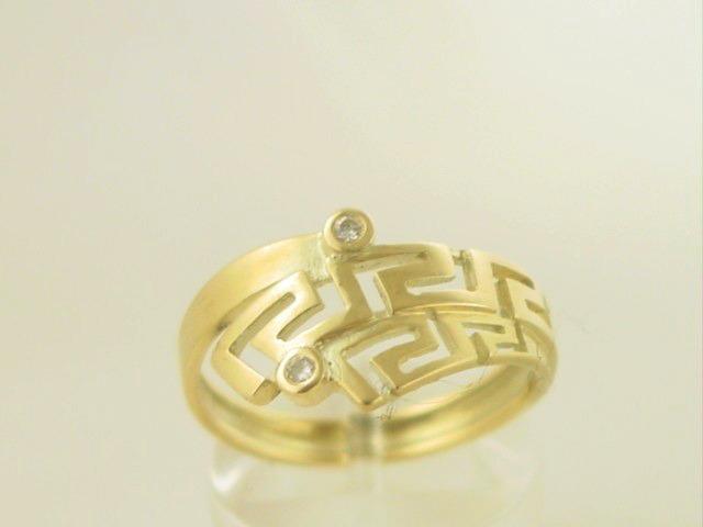 Greek key ring, Meander ring, Greek Key jewelry 14K gold rings, Greek key rings designs, 14Κ, 18Κ gold rings, Greek gold com, Greek key rings collection GKRI 525
