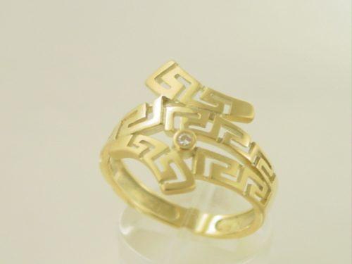 Greek key ring, Meander ring, Greek Key jewelry 14K gold rings, Greek key rings designs, 14Κ, 18Κ gold rings, Greek gold com, Greek key rings collection GKRI 527