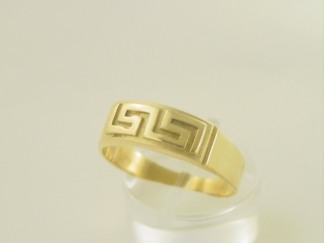 Greek key ring, Meander ring, Greek Key jewelry 14K gold rings, Greek key rings designs, 14Κ, 18Κ gold rings, Greek gold com, Greek key rings collection GKRI 530