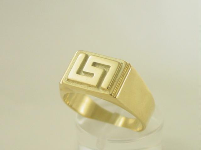 Greek key ring, Meander ring, Greek Key jewelry 14K gold rings, Greek key rings designs, 14Κ, 18Κ gold rings, Greek gold com, Greek key rings collection GKRI 533
