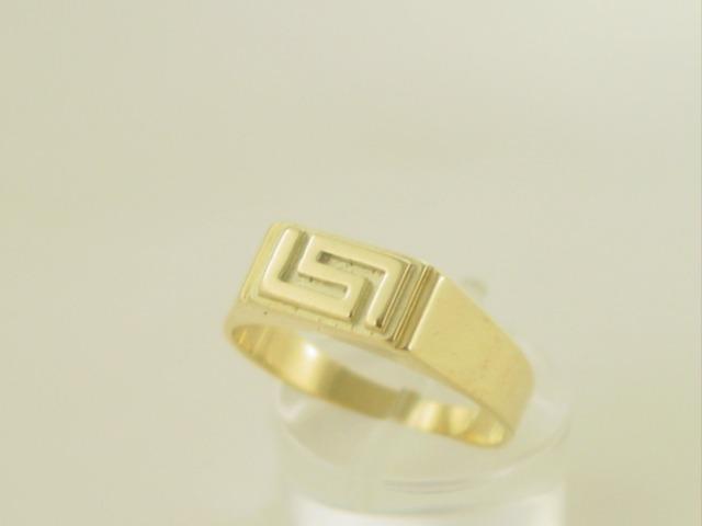 Greek key ring, Meander ring, Greek Key jewelry 14K gold rings, Greek key rings designs, 14Κ, 18Κ gold rings, Greek gold com, Greek key rings collection GKRI 535