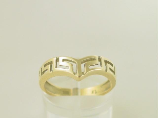 Greek key ring, Meander ring, Greek Key jewelry 14K gold rings, Greek key rings designs, 14Κ, 18Κ gold rings, Greek gold com, Greek key rings collection GKRI 553