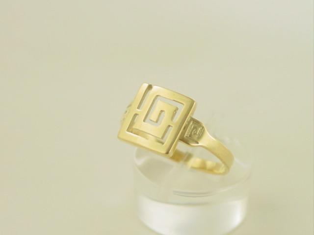 Greek key ring, Meander ring, Greek Key jewelry 14K gold rings, Greek key rings designs, 14Κ, 18Κ gold rings, Greek gold com, Greek key rings collection GKRI 630