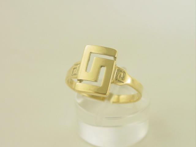 Greek key ring, Meander ring, Greek Key jewelry 14K gold rings, Greek key rings designs, 14Κ, 18Κ gold rings, Greek gold com, Greek key rings collection GKRI 633