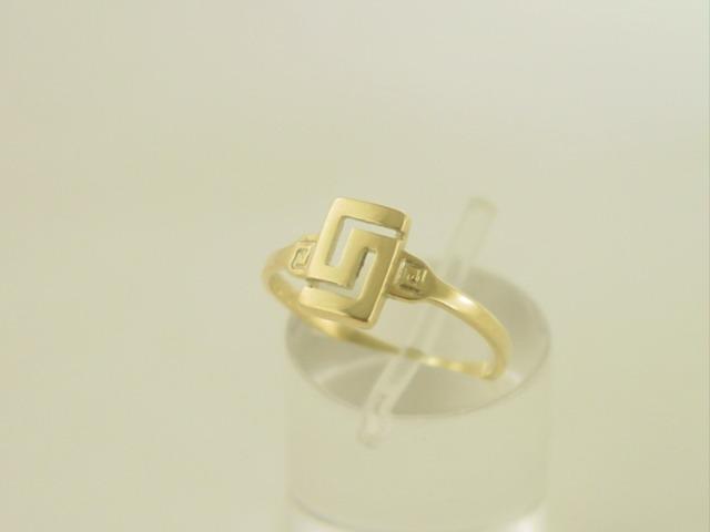 Greek key ring, Meander ring, Greek Key jewelry 14K gold rings, Greek key rings designs, 14Κ, 18Κ gold rings, Greek gold com, Greek key rings collection GKRI 635