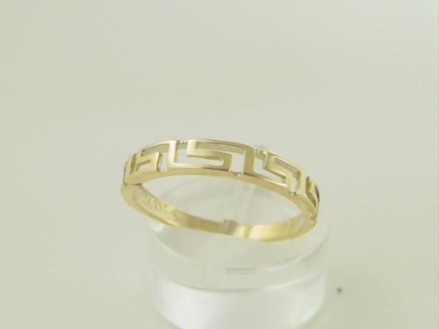 Greek key ring, Meander ring, Greek Key jewelry 14K gold rings, Greek key rings designs, 14Κ, 18Κ gold rings, Greek gold com, Greek key rings collection GKRI 660