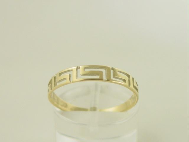 Greek key ring, Meander ring, Greek Key jewelry 14K gold rings, Greek key rings designs, 14Κ, 18Κ gold rings, Greek gold com, Greek key rings collection GKRI 661