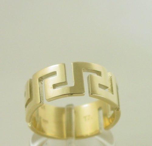 Greek Key Ring, Greek Key Jewelry, Meander rings, Greek key rings in 14K Gold, Greek Key Gold Rings, Greek Gold, Greek Key Design, Yellow Gold Greek Key Ring, Greek Gold Jewelry, Greek jewelry shop. Greek Key Wedding Rings