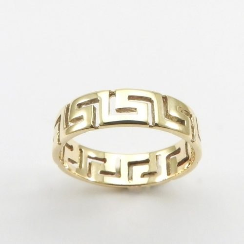 jewelry 14K gold rings, Greek key rings designs, 14Κ, 18Κ gold rings, Greek gold com, Greek key rings collection