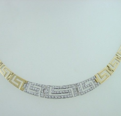 Greek Key necklaces-Meander necklace -Greek Jewelry-Greek key gold necklaces