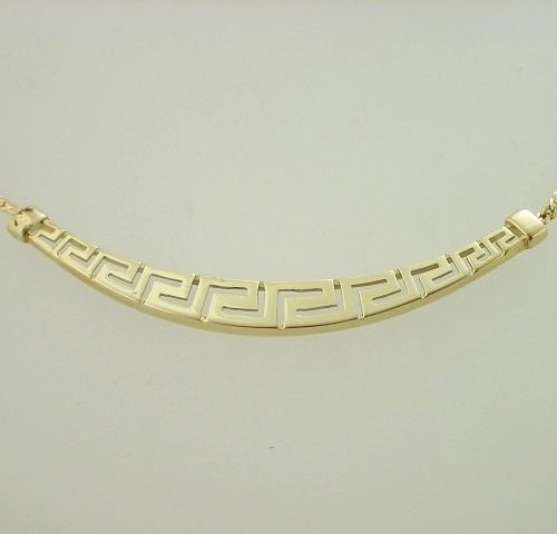 Greek Key necklaces-Meander necklace -Greek Jewelry-Greek key gold necklaces