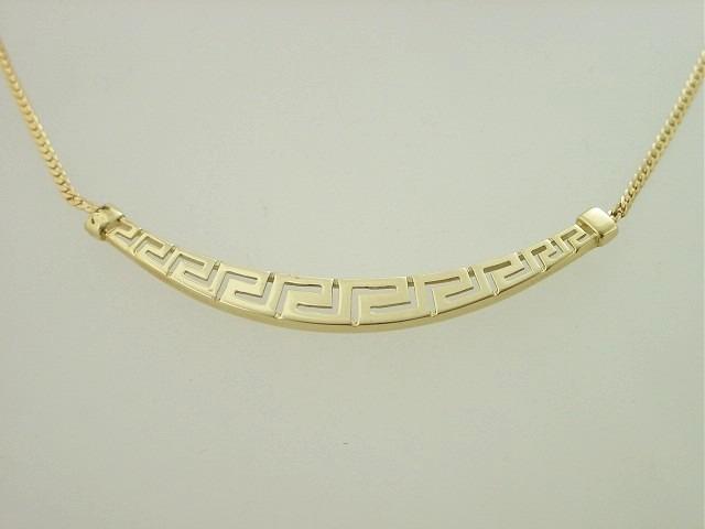 Greek gold jewelry greek handmade jewelry greek jewelry shop greek key necklace meander 14 k gold gkne 127 aloadofball Choice Image