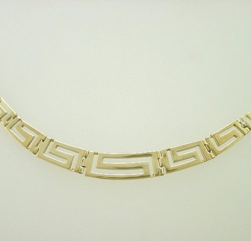 Greek key necklaces