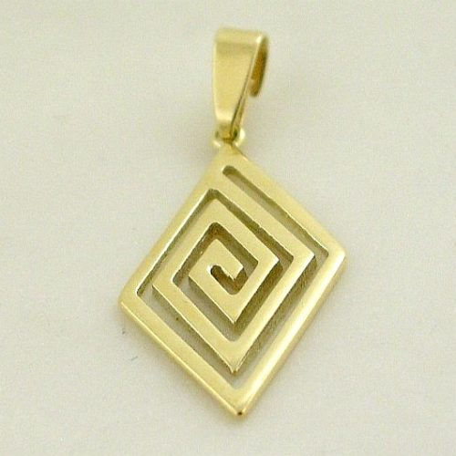 Greek key gold pendant, Greek gold jewelry, Greek pendant, Jewelry from Greece, Meander gold pendant, Greek jewelry shop, Greek jewellery store, Greek key gold jewelry, 14K gold