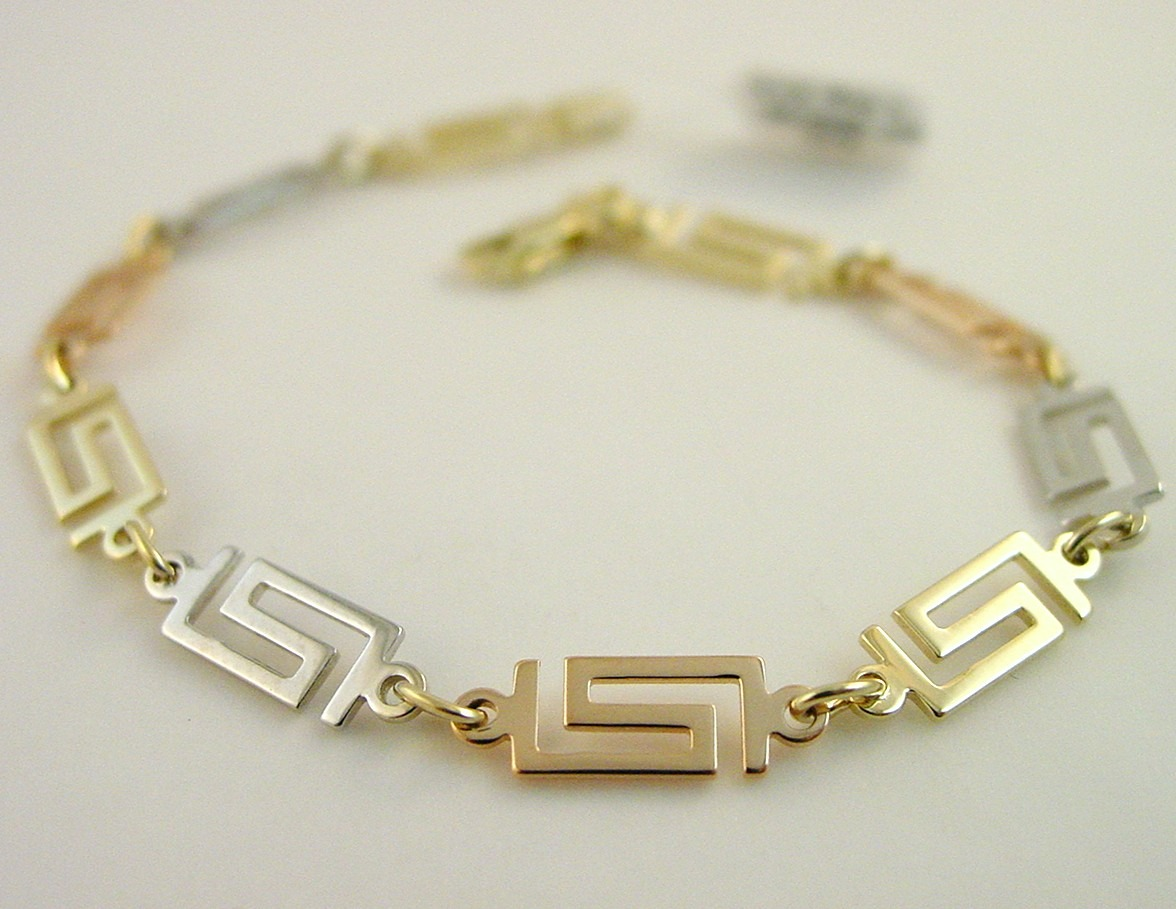 Greek Key Bracelet Meander Jewelry Gkbr 756