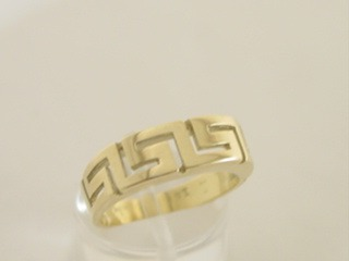 Greek key ring, Meander ring, Greek Key jewelry 14K gold rings, Greek key rings designs, 14Κ, 18Κ gold rings, Greek key jewelry, Greek key rings collection GKRI 118