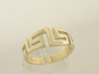 Greek key ring, Meander ring, Greek Key jewelry 14K gold rings, Greek key rings designs, 14Κ, 18Κ gold rings, Greek key jewelry, Greek key rings collection. GKRI121