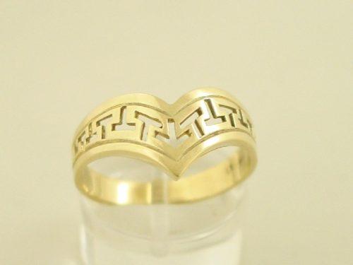 Greek key ring, Meander ring, Greek Key jewelry 14K gold rings, Greek key rings designs, 14Κ, 18Κ gold rings, Greek key jewelry, Greek key rings collection GKBR131