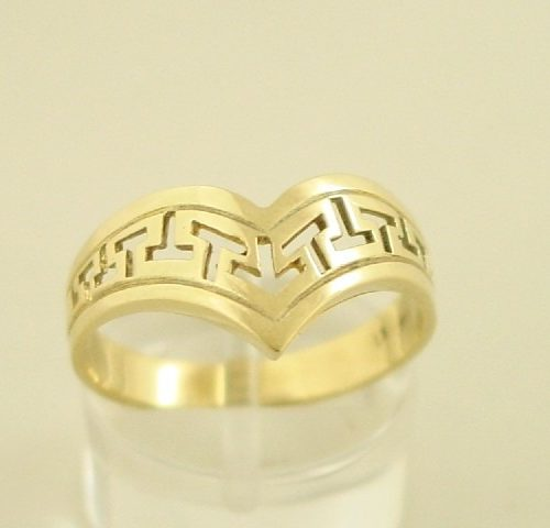 Greek key ring, Meander ring, Greek Key jewelry 14K gold rings, Greek key rings designs, 14Κ, 18Κ gold rings, Greek key jewelry, Greek key rings collection GKBR131