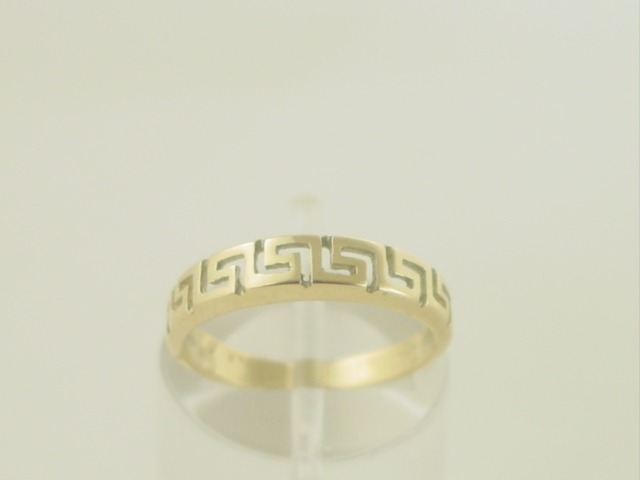 Greek key rings, Greek gold rings, Meander rings, Greek key rings designs, 14Κ, 18Κ gold rings, Specialists in Greek key jewelry, Greek key rings collection GKBR138