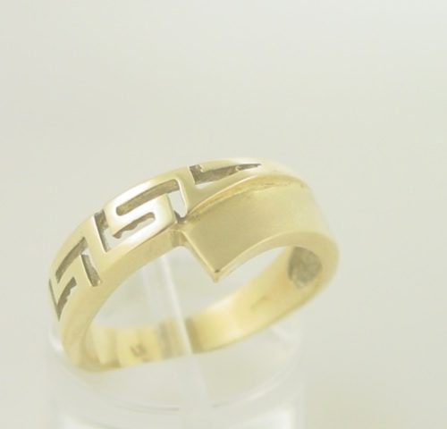 Greek-Jewelry-key-rings-Meander-rings- jewellery-Greece-shop-Greek Key rings-Meander gold rings-Greek gold Jewelry-images-GKRI 225