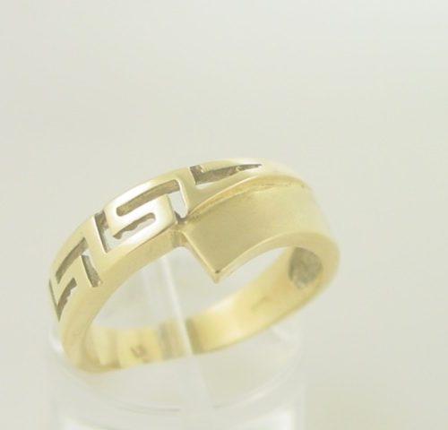 Greek key ring, Meander ring, Greek Key jewelry, Greek jewelry 14K gold, Greek key rings designs, 14Κ, 18Κ gold rings, Greek gold com, Greek key rings collection GKBR 225