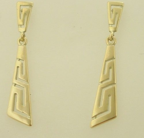 Greek key gold earrings, Greek gold jewelry, Greek jewelry, Jewelry from Greece, Meander earrings, Greek jewelry shop, Greek jewellery store, Greek key gold jewelry, 14K gold
