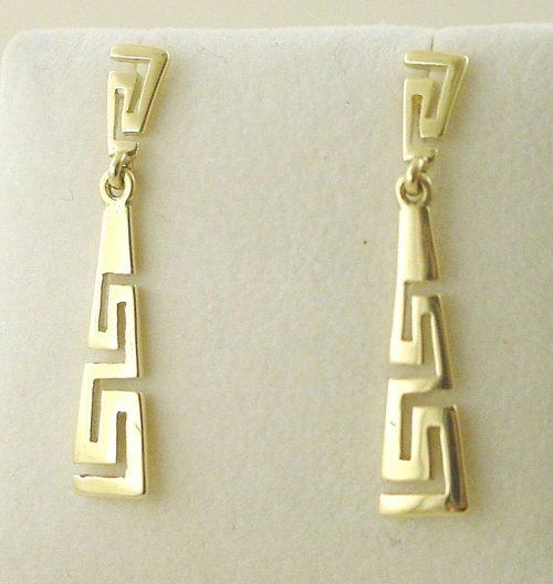 Greek Key earrings, Meander earrings, Greek Jewelry, Jewelry from Greece, Greek jewelry shop, Greek gold jewelry, Greek key