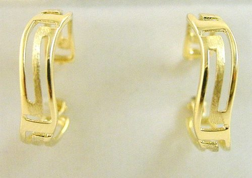 Greek Key earrings-Meander gold earrings -Greek gold Jewelry-Greek-key- earrings -Meander- earrings -image GKEA 870