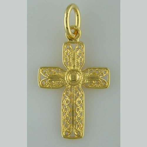 Byzantine Orthodox Filigree cross in 18K Gold, Greek Jewelry, Greek gold jewelry, Byzantine filigree Gold Crosses, Greek jewelry shop, Byzantine jewelry