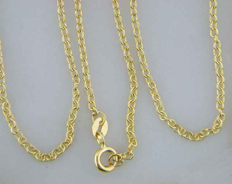 Gold Chains In A Purity 14 18k Solid Or Hollow Yellow White