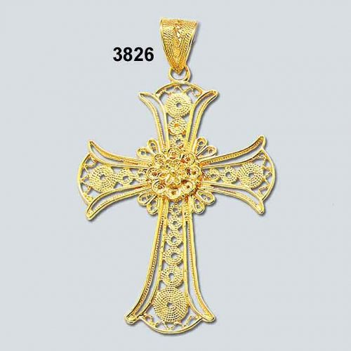 Byzantine Orthodox Filigree cross in 18K Gold, Greek Jewelry, Greek gold jewelry, Byzantine filigree Gold Crosses, Greek jewelry shop, Byzantine jewelry BYCR KA 3826