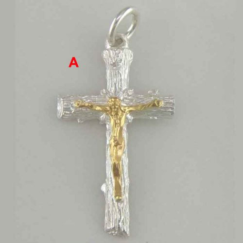Byzantine Greek filigree baptism orthodox cross gold plated sterling silver 925 jewelry