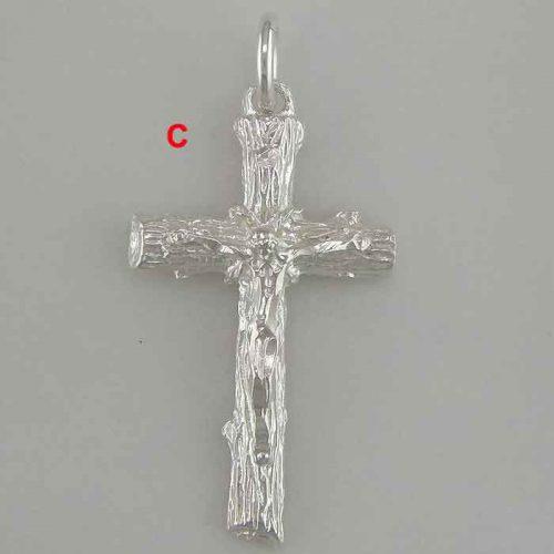 Byzantine Greek filigree baptism orthodox cross gold plated sterling silver 925 jewelry