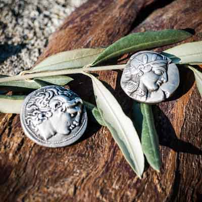 Ancient Greek Silver Coins & Pendants