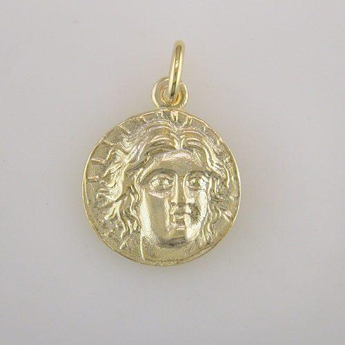 Apollo-Helios God silver coin, Greek jewelry shop, Ancient Greek silver coin pendant. Greek Gold Jewelry, Ancient, Apollo-Helios God coin.Greekgold.com