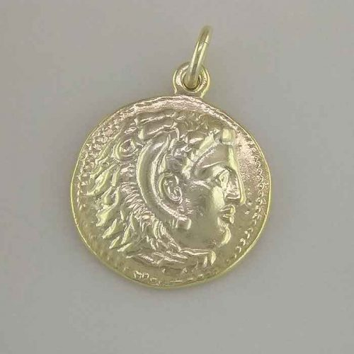 Alexander the Great-Ancient Greek silver coin pendants–Ancient Greek coins necklaces Ancient-Greek Jewelry-Greek museum silver coins reproduction