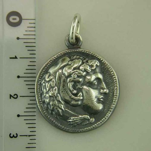 Alexander the Great coin – pendant, Sterling Silver Ancient Coin, ancient necklace, pendant and coin jewelry, Greekgold.com, Greek jewelry, Greek jewelry shop