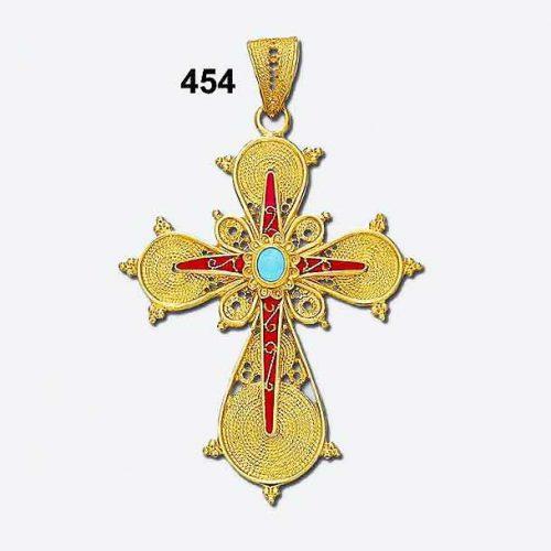 Byzantine 18K gold crosses, Orthodox baptismal gold crosses, Greek gold baptism crosses, filigree cross, 18K gold crosses