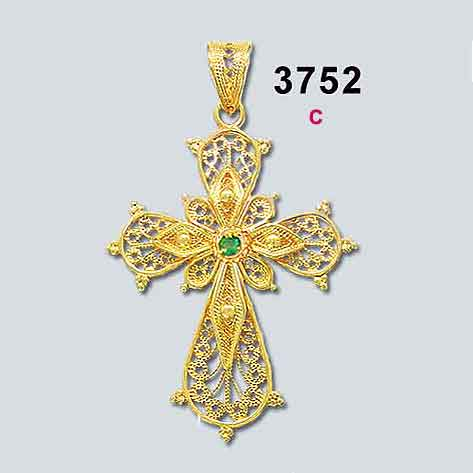 Baptism-Orthodox-gold-crosses-Christening-Baptismal-Byzantine-Filigree-cross-gold-greek-jewelry-greekgold-BYCR KA 3752