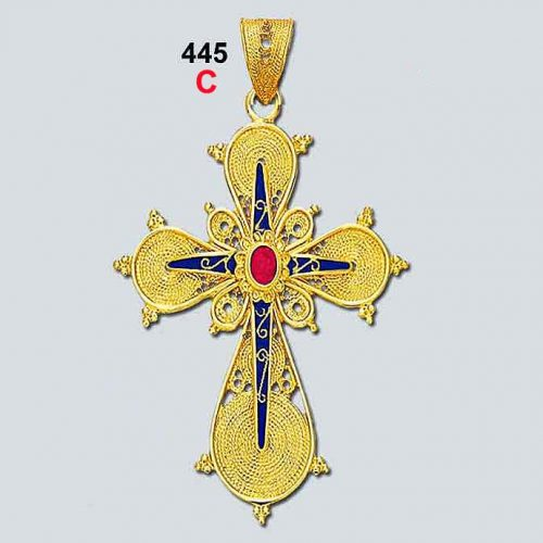 Byzantine 18K gold crosses, filigree crosses, Orthodox baptismal cross, handmade cross, 18K gold crosses, Greek crosses, Byzantine crosses, Greek gold crosses, gold crosses, BYCR KA 445