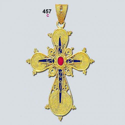 Byzantine 18K gold crosses, filigree crosses, Orthodox baptismal cross, handmade cross, 18K gold crosses, Greek crosses, Byzantine crosses, Greek gold crosses, gold crosses, BYCR KA 457
