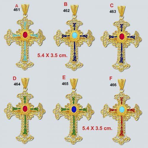 Byzantine - gold - crosses - Byzantine crosses - Greek - 18K gold - filigree crosses - Orthodox baptismal cross - Greek jewelry - Greek crosses - gold crosses
