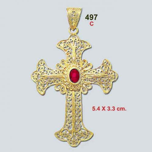 Byzantine Cross-Orthodox cross-Greek Jewelry-Baptism cross