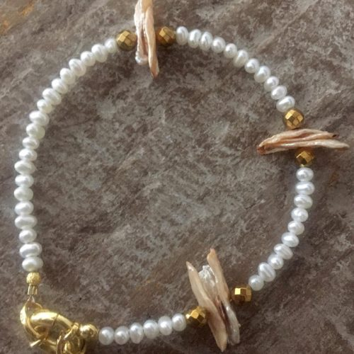 Nature-Bracelet-fresh-water-pearls