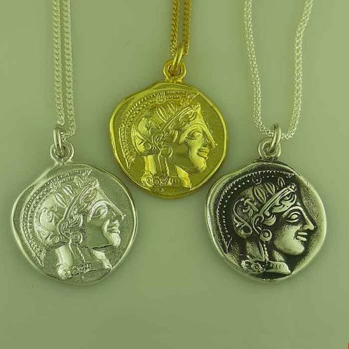 Ancient Greek silver coin pendant, Goddess Athena & Wise Owl coin pendant, Ancient Greek silver coin, Ancient Greek jewelry